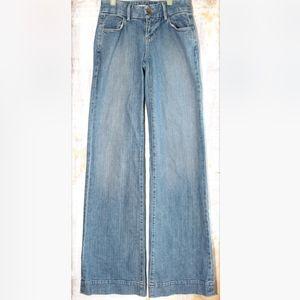 J Brand Wide Flare Leg Denim Blue Jeans Size 24